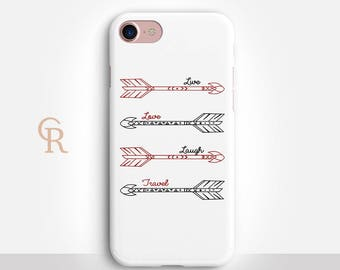 Arrow Phone Case For iPhone 8 iPhone 8 Plus iPhone X Phone 7 Plus iPhone 6 iPhone 6S  iPhone SE Samsung S8 iPhone 5 Inspirational Tribal