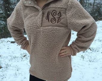 Personalized Monogrammed Sherpa Pullover