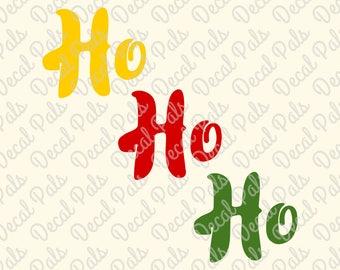Ho Ho Ho | Christmas cut design | FCM, SVG, PNG file formats | #DP160 | ***Not a physical item***