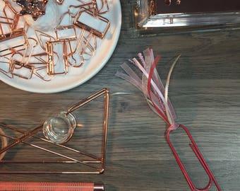 Valentines Jumbo Planner Clip - Ribbon