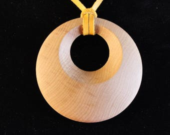 Cherry wood pendant