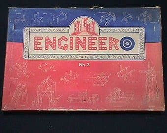 Vintage Engineero U.S.A.Made Childs Building Set Complete & Unused Engineero Construction Set No. 2