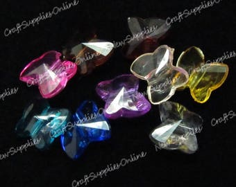 10 x Pearl acrylic Butterfly 10x9mm