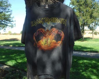 1990s vintage iron maiden rock t very cool