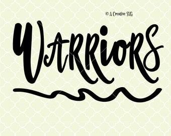 Warriors SVG DXF Files for Cricut Design, Silhouette studio.