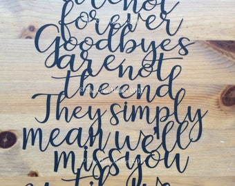 Goodbyes Are Not Forever - Paper Cutting Template. Personal And Commercial Use PDF