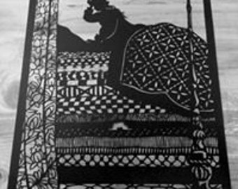 The Princess And The Pea Papercut Art Work - Cut By Hand From A Single Sheet Of Paper