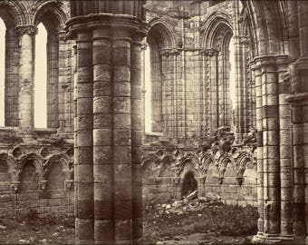 Poster, Many Sizes Available; Benjamin Brecknell Turner - Whitby Abbey, Yorkshire, North Transept -