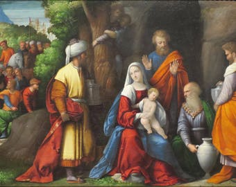 Poster, Many Sizes Available; Adoration Of The Magi By Benvenuto Tisi, Oil On Panel, C. 1534, High Museum Of Art