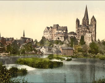 Poster, Many Sizes Available; Castle And Cathedral, Limburg, Hesse-Nassau, Germany 1890