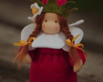 Strawberry - Flower child - Waldorf doll - Nature Table