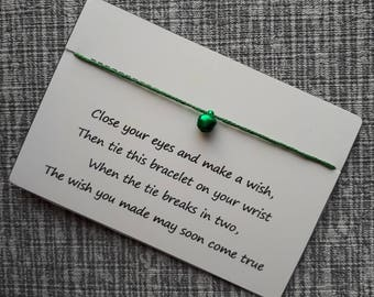 Wish bracelet, believe, christmas bell, jingle bell bracelet, festive wish bracelet, christmas wish