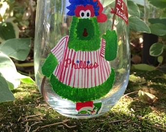 Phillies Phanatic Glass