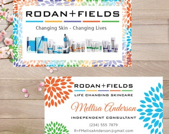 PRINTABLE Rodan and Fields Business Cards, Rodan + Fields Business Cards, R+F Consultant, Digital Files RF007