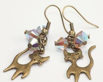 """""""Cats"""" earrings"""