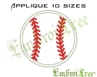 Baseball Applique Design - Baseball Monogram Embroidery Design - Sports Applique Embroidery Download
