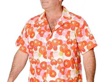 Feak Shirt for Men Summer Tomato Print, Hawaiian Tomato Shirt, Summer Tomato Shirt, Mens Hawaiian Shirt, Vegetable Shirt, Vegan Shirt