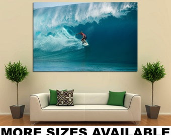 Wall Art Giclee Canvas Picture Print Gallery Wrap Ready to Hang John John Florence M001 Surfing 60x40 48x32 36x24 24x16 18x12 3.2