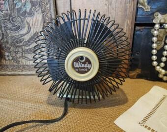 Vintage Windy Tahoe Fan / Desk Personal Fan / Retro Adjustable Fan