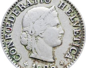 1925 5 Rappen Switzerland Coin