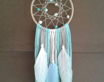 "Blue Dream catcher, 5"" Hoop Dreamcatcher, Beach Dreamcatcher, Nursery Decor, Beach Decor, Nursery Dream catcher, Blue Decor, Nursery Decor.."