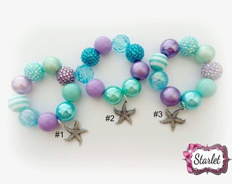 Under the Sea Chunky Bracelet, Girl's, Jewelry, Birthday Gift, Party Favor