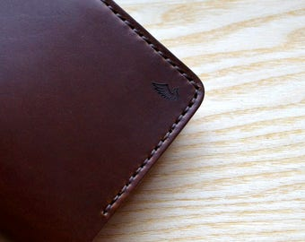 Passport wallet and Field Notes Cover in Brown Horween Chromexcel leather  | Wallet Journal Notebook Passport Vanguard Cahier sleeve