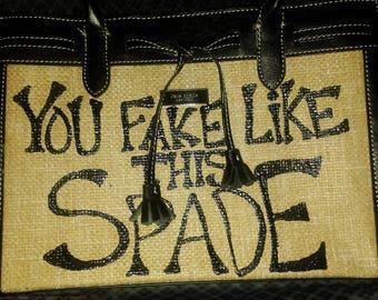 Kate Handpainted upcycled trendy handbag