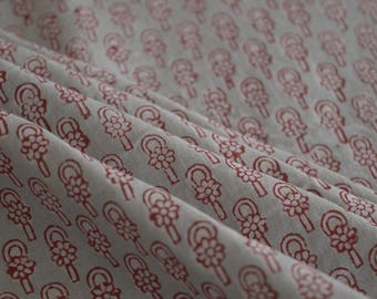 Hand Block Print Cotton Fabric, Indian Fabric, Fabric sold by yard, block print fabric, hand printed, cotton fabric
