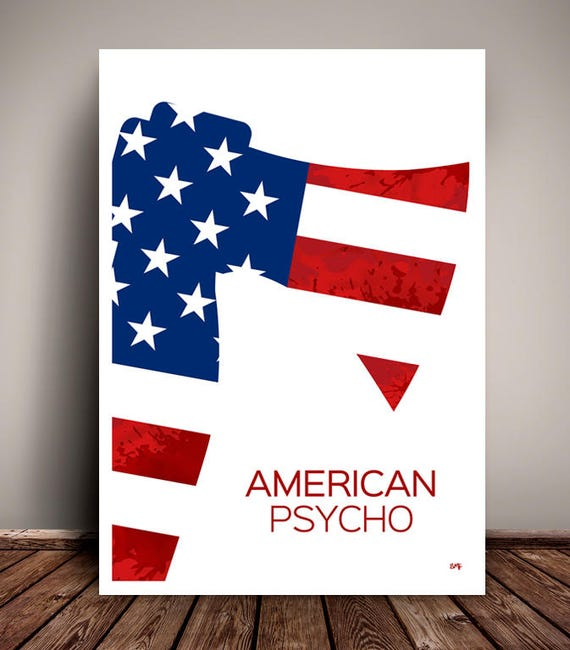 American Psycho // Christian Bale // Horror // Minimalist Movie Poster // Unique Art Print