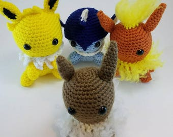Crochet Eevee and Eeveelutions Plush