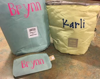 Personalized make up/toiletries bag