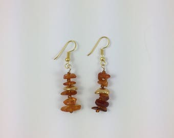 Amber Bead Earrings by Pottery Lovely