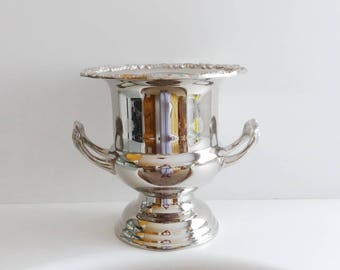 Vintage Silverplate Silver Plate Champagne Ice Bucket Trophy Vase Wine Cooler