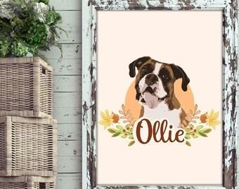 Custom Pet Portraits - Custom Drawing of your Lovely Pet  - Best Gift for Pet Lover - Pet illustration - Printable Pet Portraits - Autumn