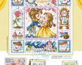 Beauty and the Beast schema punto croce SODAstitch SO-3219