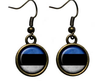 Estonia Estonian Flag Earrings