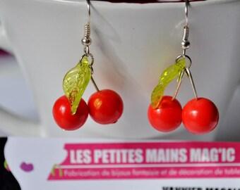 """chic earrings """"time of cherries"""""""