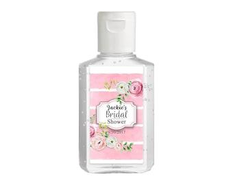 Purell hand sanitizer labels 2 oz. size bottle - Bridal Shower Labels - Bridal Shower Hand Sanitizer Labels - Bridal Shower Decor - Pink