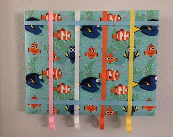 Finding Nemo hair bow organizer, hair bow organizer, hair bow holder, Finding Nemo, organizer, hair bow, headband organizer, headband holder