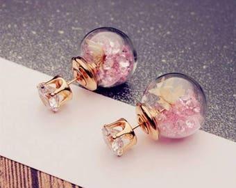 Beautiful flower stud earrings