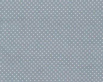 Au maison oilcloth dots dusty blue pigeons grey