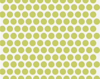 Birch organic cotton dotted grass dots green