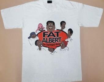VINTAGE FAT ALBERT and the junkyard gang 70s movie cartoon hip hop rap t shirt