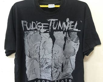 VINTAGE FUDGE TUNNEL rock metal tour concert promo t shirt nailbomb