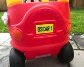 Personalised 3D Printed Little Tikes Numberplate  Toy Car  Children  Kids  Name