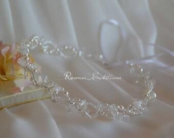 Wedding headband Pearl and Crystal pearls - bridal headband wedding headpiece, bridal crown, wedding jewelry