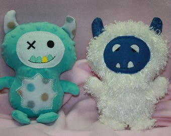 Monster Softie - Monster Stuffed Toy - Snow Monster Softie Toy - Custom Monster Doll - Baby Safe - Perfect Gift