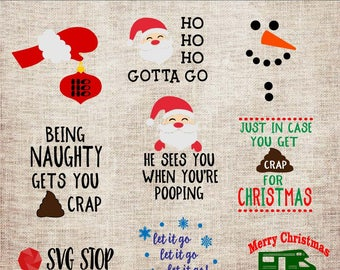 Christmas Toilet Paper Bundle - SVG, DXF, PNG Jpg Eps - Clipart Cut File - Silhouette Cricut Sublimation Printing - Instant Digital Download
