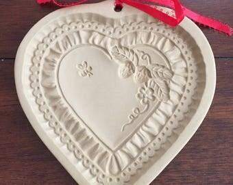 1990 Brown Bag Cookie Art Cookie Press heart shape